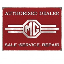 MG Authorised Dealer Enamel Sign