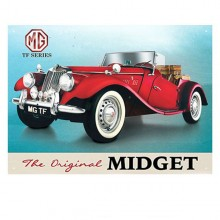 MG TF Enamel Sign