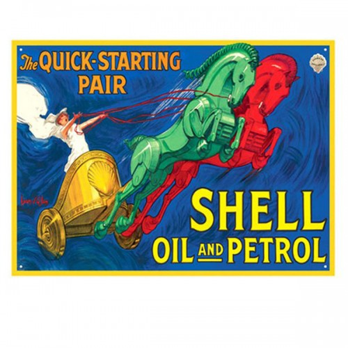 Shell Chariot Enamel Sign image #1