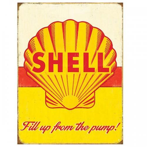 Shell Pump Enamel Sign image #1