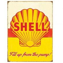 Shell Pump Enamel Sign