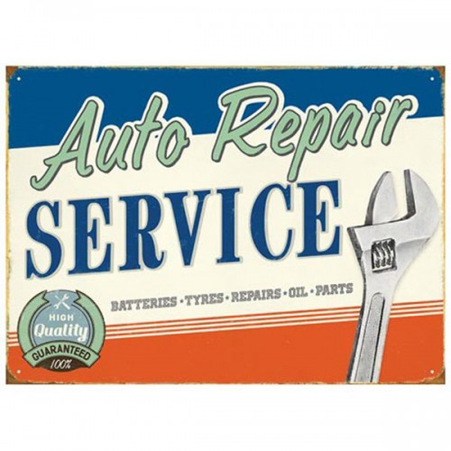 Auto Repair Enamel Sign image #1