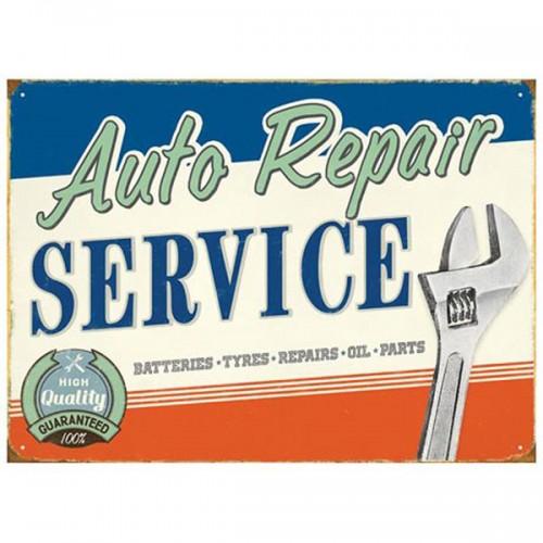 Auto Repair Enamel Sign image #1