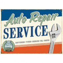 Auto Repair Enamel Sign