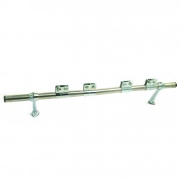 Badge Bar - Straight (2 Feet/4 clips) - 19mm diameter