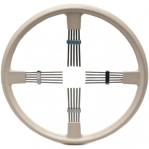 Bluemels Steering Wheel - 14 inch diameter - Cream image #1