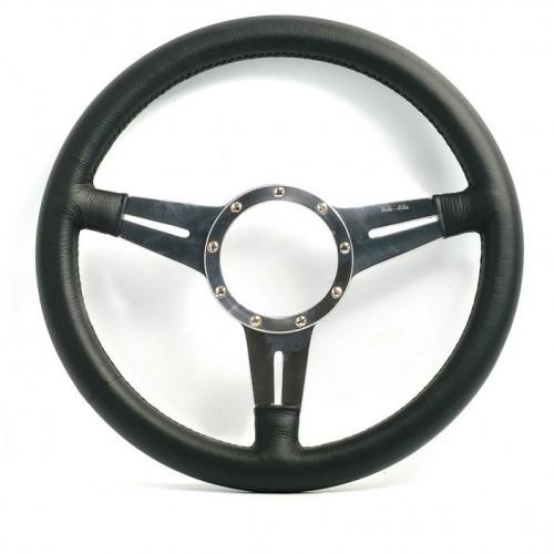 Mark 4 (Slots) Flat 14 in Leather Rim Steering Wheel image #1
