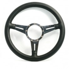Moto Lita Mark 4 Leather Rim Steering Wheel With Slotted Spokes - 13 Inch Flat