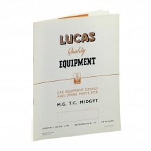 MG TC Lucas Spares Parts List