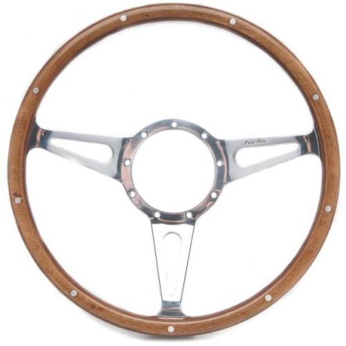 Mark 3 (Teardrop Slots) 14in Wood Rim Steering Wheel - Dished image #1