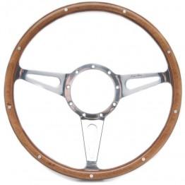 Mark 3 (Teardrop Slots) 15in Wood Rim Steering Wheel - Dished