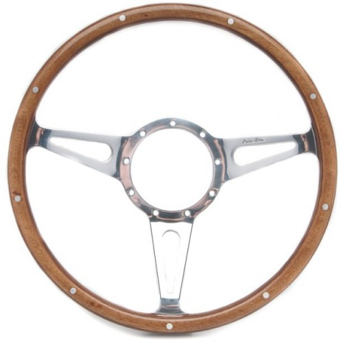 Mark 3 (Teardrop Slots) 15in Wood Rim Steering Wheel - Dished image #1