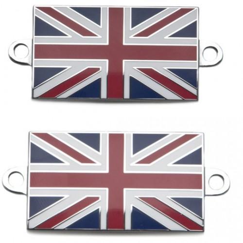 Pair of Union Jack Enamelled Badges image #1