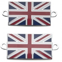Pair of Union Jack Enamelled Badges