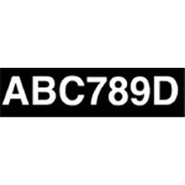 Adhesive Numberplate - Black