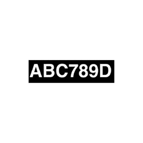 Adhesive Numberplate - Black image #1
