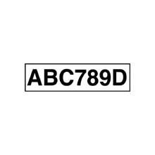Adhesive Numberplate - White