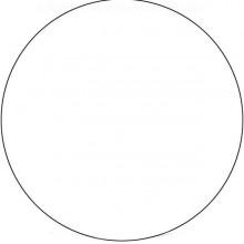 White Roundel 18 inch - Round