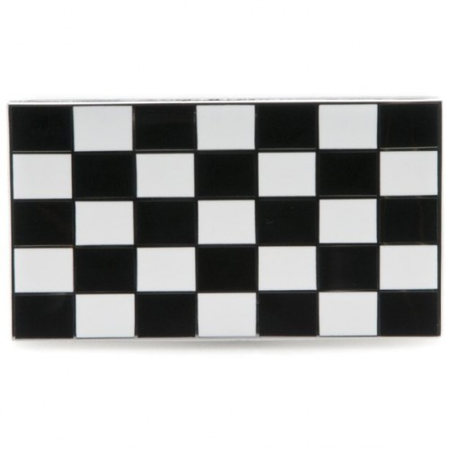 Chequered Flag Enamelled Adhesive Badge image #1