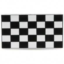 Chequered Flag Enamelled Adhesive Badge