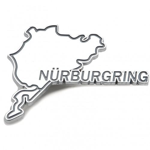 Nurburgring Chromed Adhesive Badge image #1