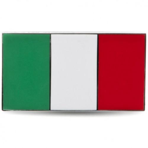 Italy Flag Enamelled Adhesive Badge image #1