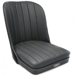Vintage Style Sports Bucket Seat - Black Leather