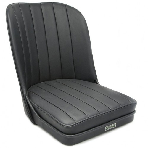 Vintage Style Sports Bucket Seat - Black Leather image #1