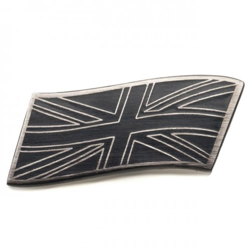 Union Jack Enamelled Adhesive Badge - Nickel/Black image #1