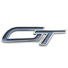 GT Badge - Chrome and Blue