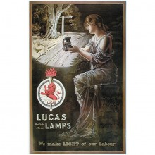Lucas Lady And The Lamp Poster (Offical Lucas Reproduction)