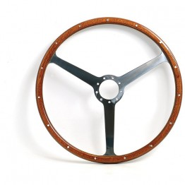 Aston Martin DB2/3/4 16in Steering Wheel - Black Spokes