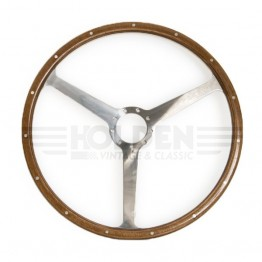 Aston Martin DB2/3/4 16in Steering Wheel - Polished Spokes