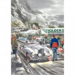 Sunbeam on Alpine Rally laminated poster