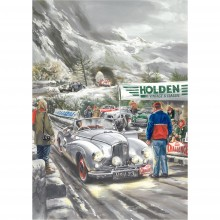Sunbeam on Alpine Rally laminated poster