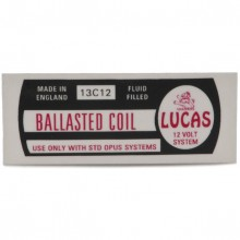 Lucas Ballasted Coil Label 13C12