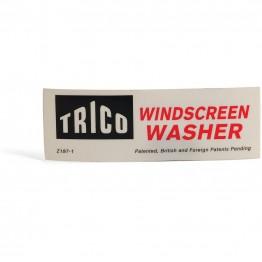 'Trico Windscreen Washer' Sticker