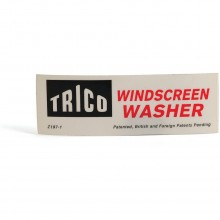 'Trico Windscreen Washer' Sticker