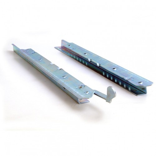 Pair of Plated Seat Runners Locking Lever on Right Hand Side image #1