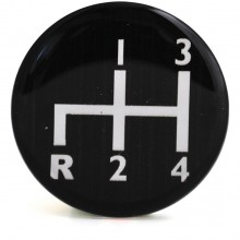 Decal for Gear Knobs 4 Speed