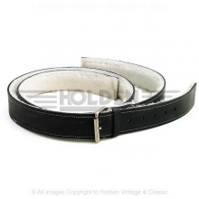 Lined Leather Bonnet Straps - Black/Chrome 2 in wide