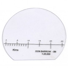 Baseplate 1:25000 Scale (Km) for Don Barrow Potti