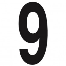 Slimline 11' Black Numbers