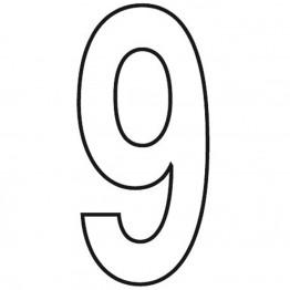 Slimline 11' White Numbers