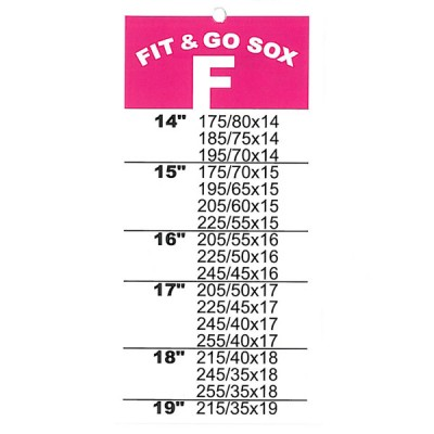 Fit and Go Snow Sox - Size F