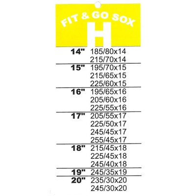 Fit and Go Snow Sox - Size H