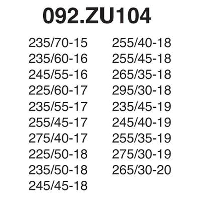 Snow Chain Zip Ultra 9mm - Size ZU104