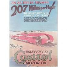 1927 Castrol Poster 207 mph