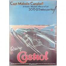 1928 Castrol Poster 206.95 mph
