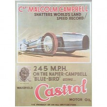 1931 Castrol Poster 245 mph